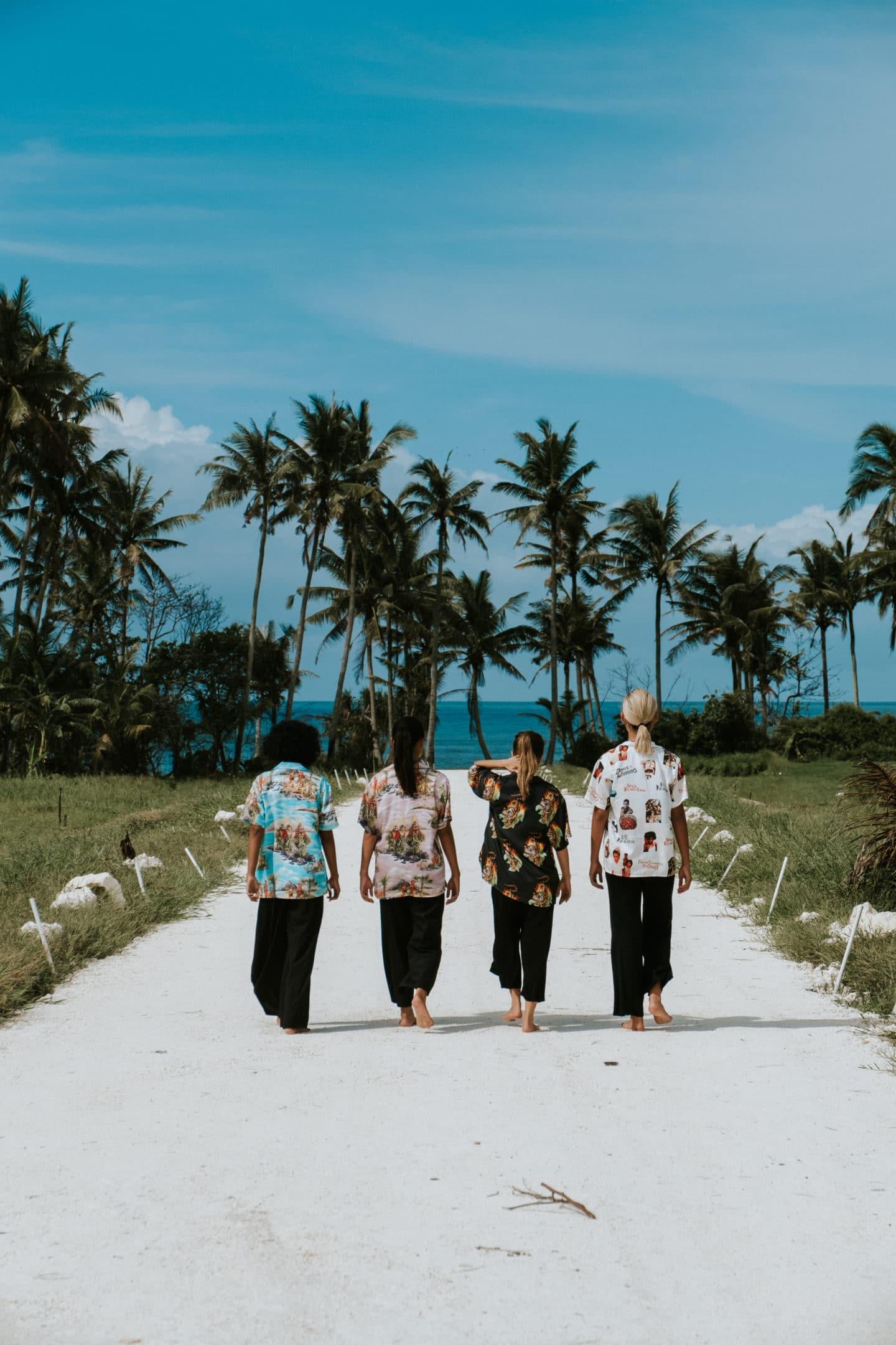 Potato Head Bali Spring/Summer 2019 collection Hawaiian shirt girls palm trees
